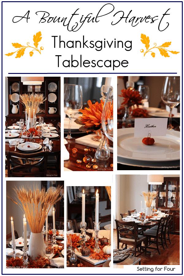 A fall harvest tablescape | www.settingforfour.com