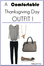 A Chic and Comfortable Thanksgiving Day Outfit