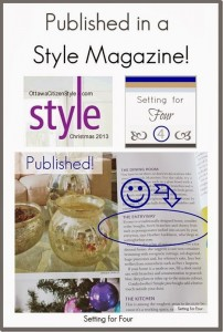Published in a Style Magazine!