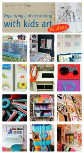 How to Display and Organize Kids Art