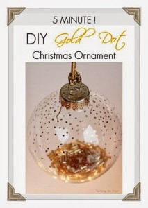 5 Minute DIY Gold Dot Christmas Ornament