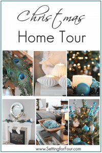 Christmas Home Tour at Setting for Four