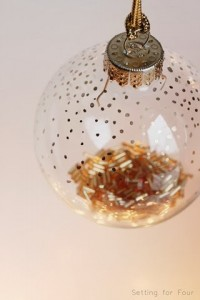 DIY Gold Dot Painted Ornament Tutorial