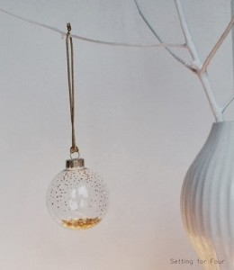Easy DIY Gold Dot Holiday Ornament
