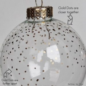 Gold Dot Painted Ornament DIY