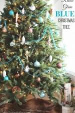 Rustic Glam & Blue Christmas Tree