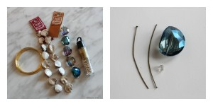 Supplies for DIY Jewel and Shell Napkin Rings