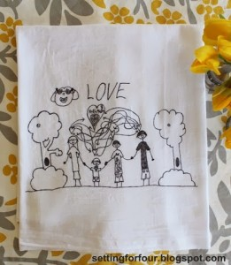 Turn Kid's Art into Tea Towels