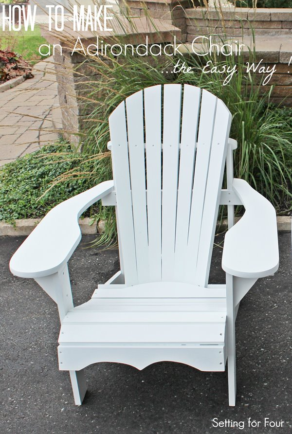 How to Make an Adirondack Chair the easy way! See the plans, cutting templates of all the pieces! #chair #carpenter #furniture #plans #outdoors #patio #firepit #seating #diy