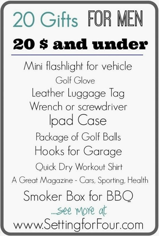 20 budget friendly gifts for men under $20! See 20 thoughtful and inexpensive stocking stuffer, birthday and holiday gift ideas for him!