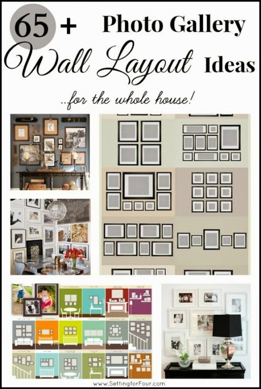 65 plus photo gallery wall layout ideas setting for four for Wall templates for hanging pictures