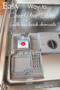 How to Clean your Dishes with Less Harsh Chemicals #FinishPowerAndFree