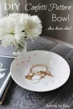 DIY Confetti Pattern Bowl