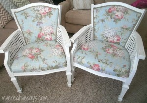 No Sew Upholstered Chairs from My Creative Days