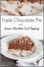 Triple Chocolate Pie with Swiss Chocolate Curl Topping / Recipe