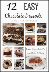 12 Easy Chocolate Dessert Recipes