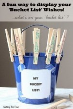 A Fun Way to Display your Bucket List Wishes #bufferinbucketlist
