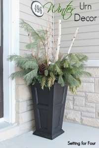 Beautiful Winter Urn Decor Ideas