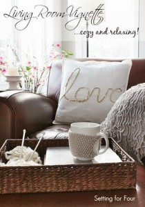 Cozy Living Room Vignette Decor