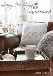 Cozy Living Room Vignette Decor