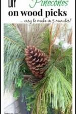 DIY Pinecones on Wood Picks