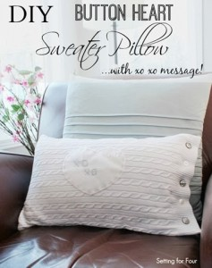 DIY Sweater Pillow – DIY Home Decor Idea