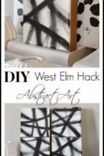 How to Make DIY Art West Elm Hack