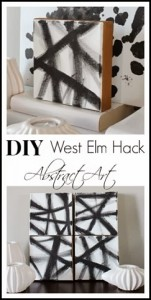 DIY Art West Elm Inspired and a Pinterest Party with Me!