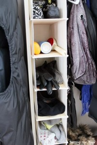 Hanging closet storage #storage #organization