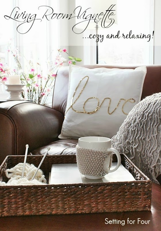 Cozy Living Room Vignette Decor & Cozy Living Room Vignette Decor - Setting for Four