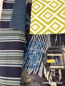 Robert Allen Spring fabrics blue and green