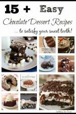 15 Plus Easy Chocolate Dessert Recipes