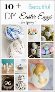 10 Beautiful DIY Spring Easter Eggs! Beautiful Spring decor to add to bowls, your mantel, on table place settings and vases!