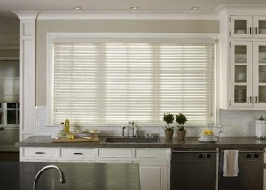 Faux wood blinds update window treatments