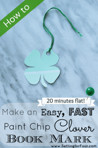 How to Make a Saint Patrick Clover Paint Chip Book Mark 300 wide
