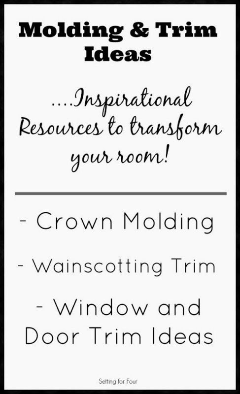 Molding and Trim ideas: Inspirational resources and pictures to transform your home. Includes ideas for crown molding, wainscot trim, window and door trim ideas.