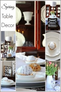 Spring Table Decor Ideas Dining Room #tablescape