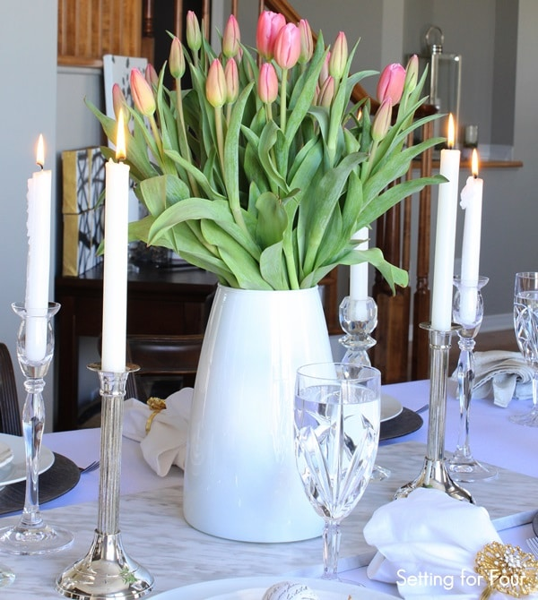 Spring Tulip Centerpiece Idea: Are You Craving A Cheery Springtime Feeling  For Your Home Right