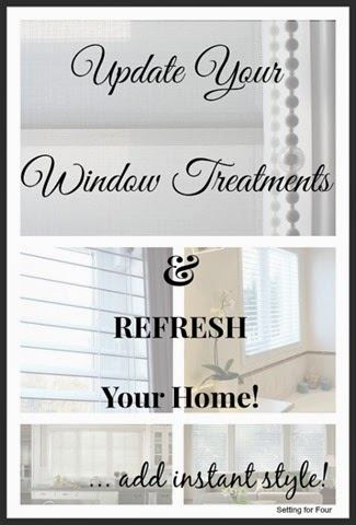 Update your window treatments and Refresh your Home Decor Instantly with new composite wood blinds and sheer shades.
