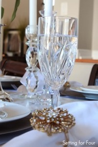 Waterford Crystal Stemware dress up a tablescape
