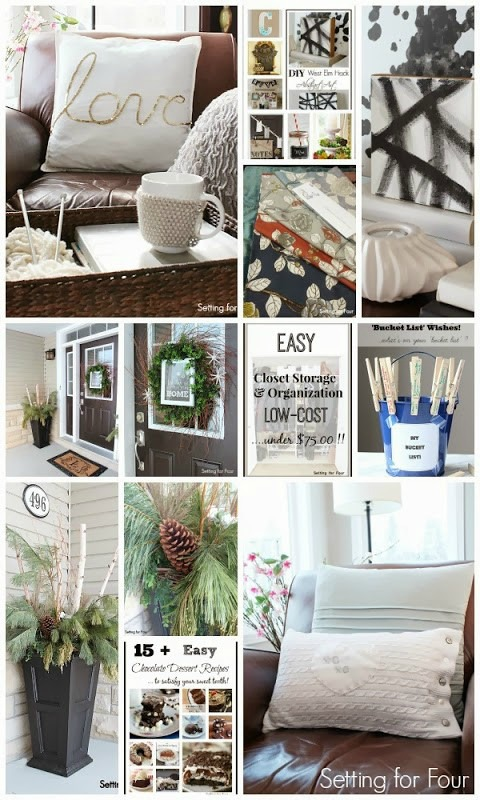 What to make and decorate in February! DIY decor and craft projects for your home.