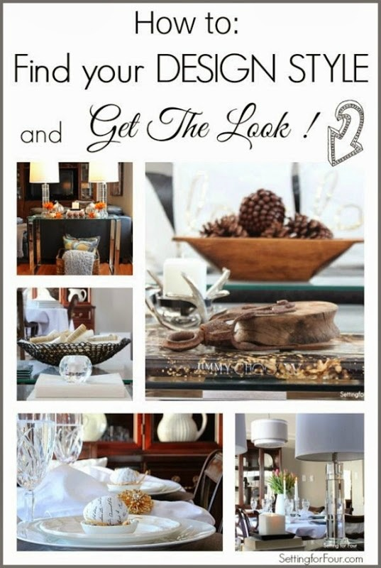 Find Your Design Style And Get The Look Setting For Four