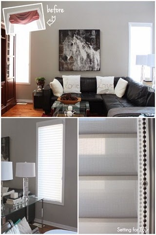 Update your family room window treatments and refresh your home decor Instantly with new composite wood blinds and sheer shades.