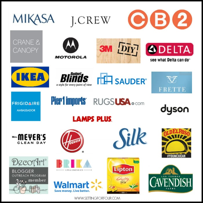 Brands that have partnered with SettingforFour.com
