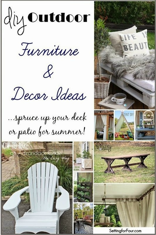 Diy outdoor furniture and decor ideas setting for four - Diy garden decoration ideas ...