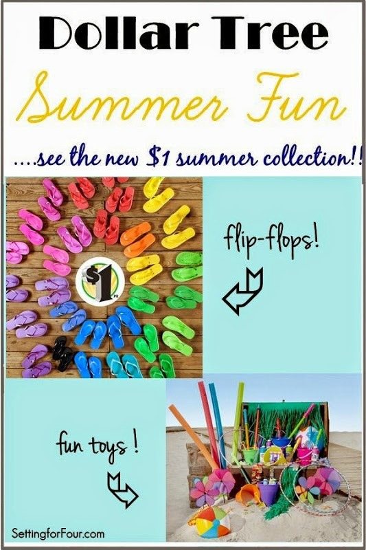 Check out the new new Dollar Tree Summer Fun collection! All for $1! #DTSneakPeek #ad