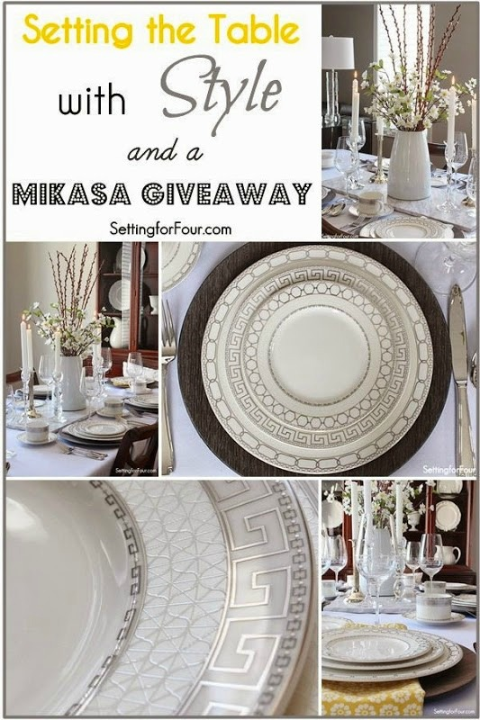 Setting the table with style and a Mikasa Giveaway