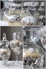 Spring Apothecary Jar Decor