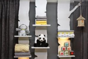 DIY BIrch Tree Shelves - adorable for a kids room or nursery! #homemadesimpletv #sp
