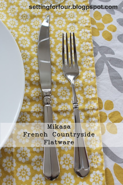 I love my Mikasa French Countryside flatware! See why! If you're looking for new flatware see this post - I show you all the amazing features of this gorgeous flatware! www.settingforfour.com